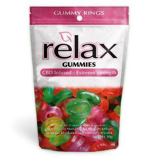 Relax Gummies - CBD Infused Gummy Rings [Edible Candy] 200mg