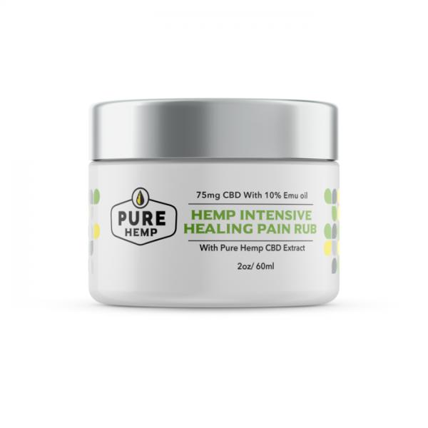 CBD Hemp Intensive Healing Pain Rub with Emu Oil - 75mg