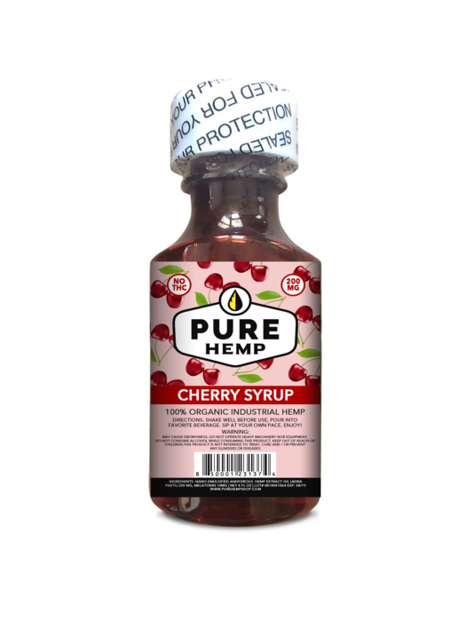 CBD Syrup - Cherry 200mg w/ Melatonin