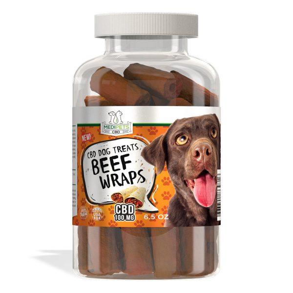 MediPets CBD Dog Treats - Beef Wraps