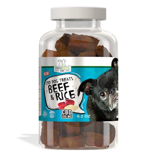MediPets CBD Dog Treats - Gourmet Beef & Rice