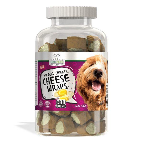 MediPets CBD Dog Treats - Cheese Wraps
