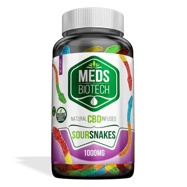 Meds Biotech Gummies - CBD Infused Sour Snakes [Edible Candy]