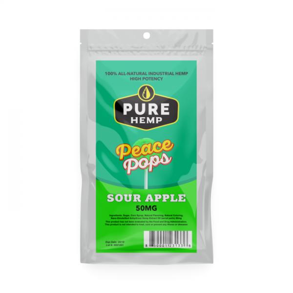 CBD Lollipop – Sour Apple 50mg