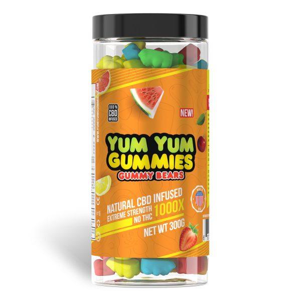 Yum Yum Gummies 1000x - CBD Infused Gummies [Edible Candy]