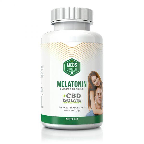 Meds Biotech CBD with Melatonin Capsules - 500mg