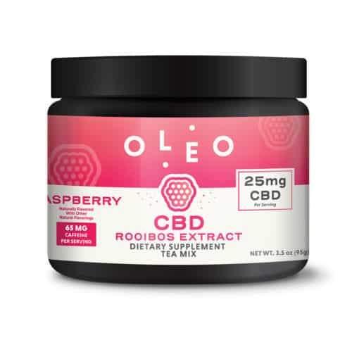 Raspberry CBD Rooibos Extract Tea Mix – OLEO