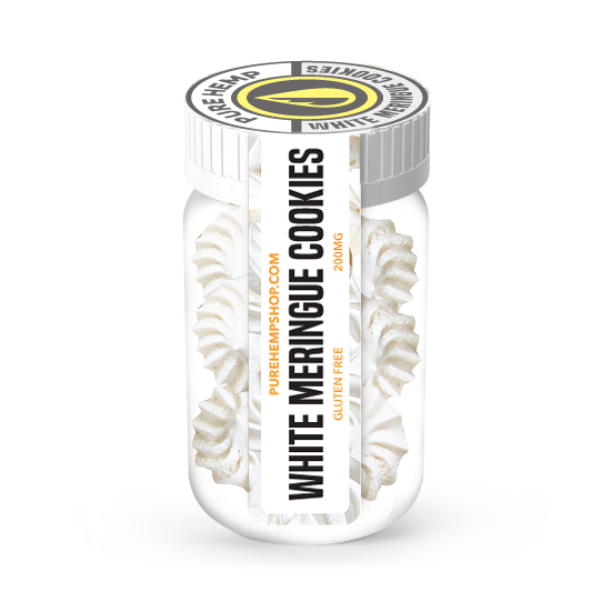 CBD White Meringue Cookies - 200mg