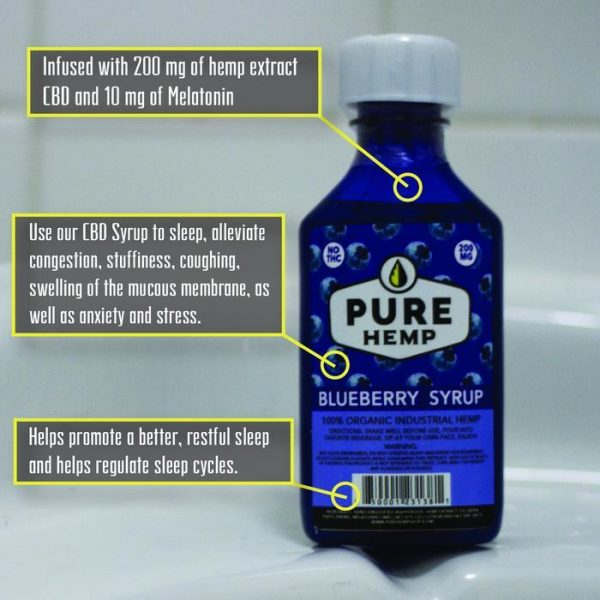 CBD Syrup - Blueberry 200mg w/ Melatonin - My CBD Mall