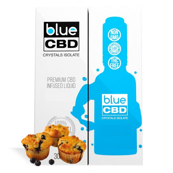 Blueberry Muffin Top Flavor Blue CBD Crystal Isolate - My CBD Mall