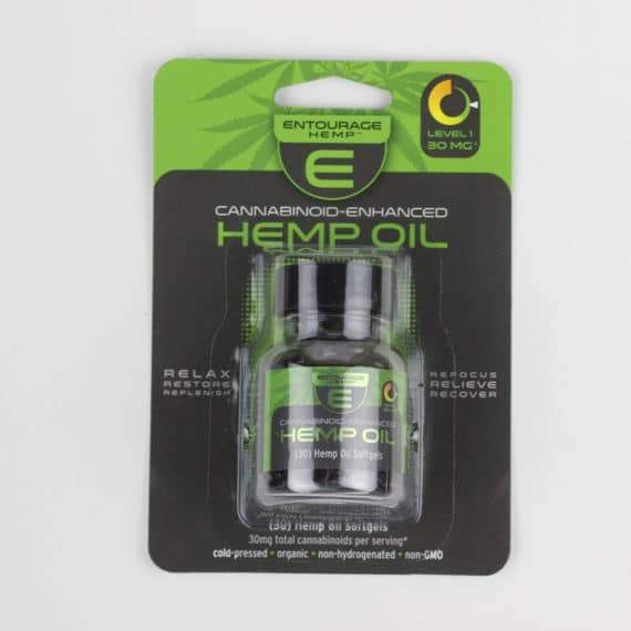 Entourage – Hemp Cannabinoid Oil Capsules 60, 30 & 2 Count (900mg CBD) - My CBD Mall