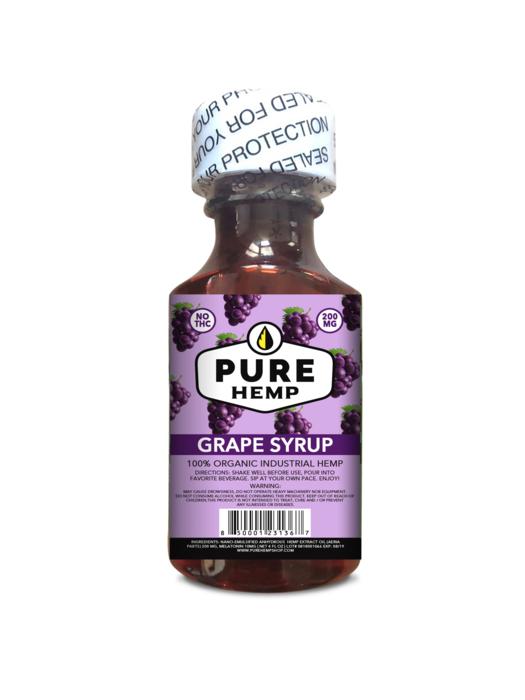 CBD Syrup - Grape 200mg w/ Melatonin - My CBD Mall