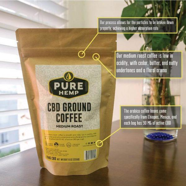 CBD Ground Coffee - Medium Roast - 90mg - My CBD Mall