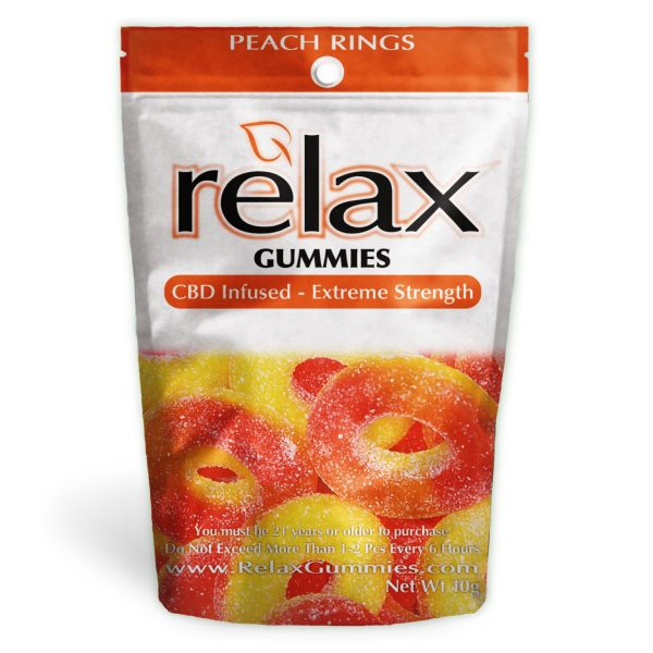 Relax Gummies - CBD Infused Peach Rings [Edible Candy] - My CBD Mall