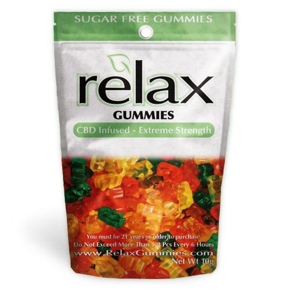 Relax Gummies - CBD Infused Gummy Bears Sugar Free [Edible Candy] 200mg - My CBD Mall