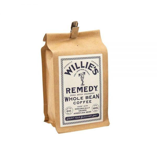 Willie's Remedy 8oz Whole Bean Regular Strength Coffee, 113MG CBD - My CBD Mall