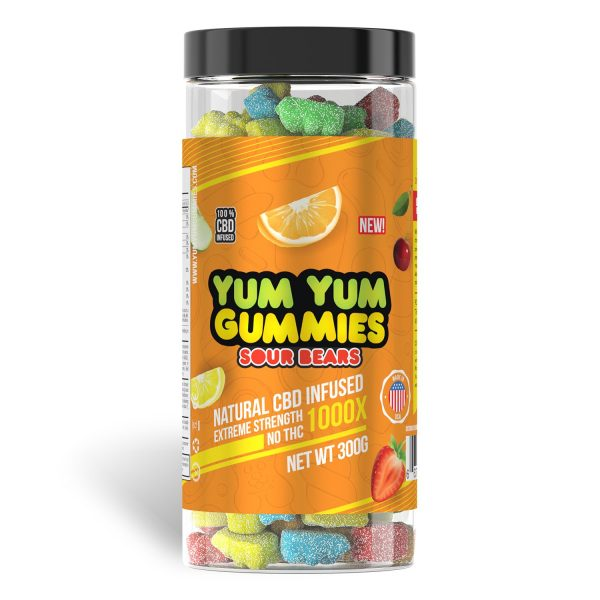Yum Yum Gummies 1000x - CBD Infused Gummies [Edible Candy] - My CBD Mall